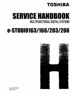 TOSHIBA e-STUDIO 163 166 203 206 Service Handbook