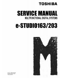 TOSHIBA e-STUDIO 163 203 Service Manual
