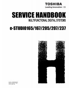 TOSHIBA e-STUDIO 165 167 205 207 237 Service Manual