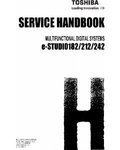 TOSHIBA e-STUDIO 182 212 242 DP1830 2120 2420 Service Handbook