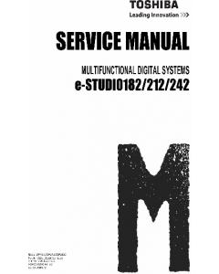 TOSHIBA e-STUDIO 182 212 242 DP1830 2120 2420 Service Manual