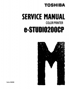 TOSHIBA e-STUDIO 200CP Service Manual