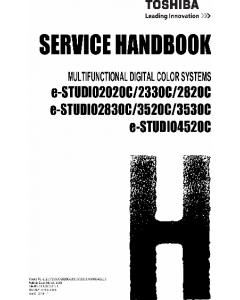 TOSHIBA e-STUDIO 2020c 2320c 2820c 2830c 3520c 3530c 4520c Service Handbook
