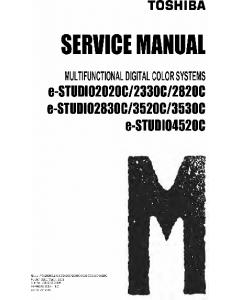 TOSHIBA e-STUDIO 2020c 2320c 2820c 2830c 3520c 3530c 4520c Service Manual