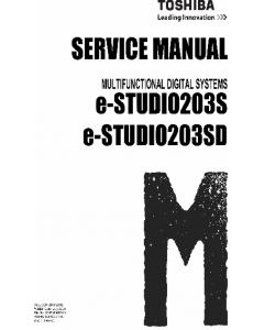 TOSHIBA e-STUDIO 203S 203SD Service Manual