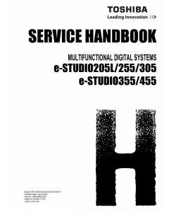 TOSHIBA e-STUDIO 205L 255 305 355 455 Service Manual