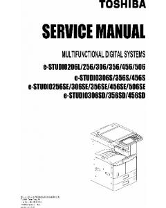 TOSHIBA e-STUDIO 206L 256 306 356 456 506 S-SE Service Manual