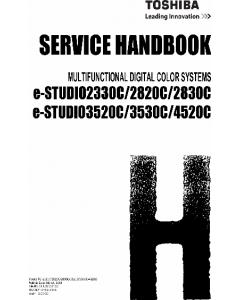 TOSHIBA e-STUDIO 2330C 2820C 2830C 3520C 3530C 4520C Service Handbook