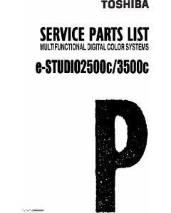TOSHIBA e-STUDIO 2500C 3500C Parts List Manual