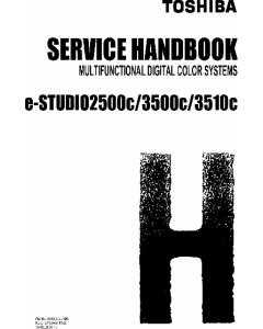 TOSHIBA e-STUDIO 2500c 3500c 3510c Service Handbook