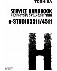TOSHIBA e-STUDIO 3511 4511 Service Handbook