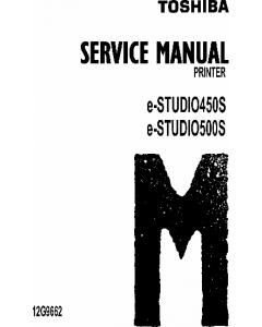 TOSHIBA e-STUDIO 450S 500S Service Manual