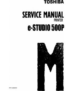 TOSHIBA e-STUDIO 500P Service Manual