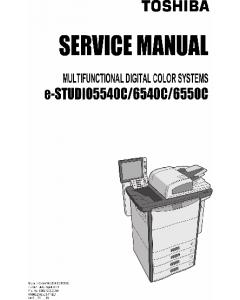 TOSHIBA e-STUDIO 5540C 6540C 6550C Service Manual