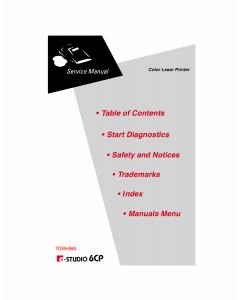 TOSHIBA e-STUDIO 6CP Service Manual