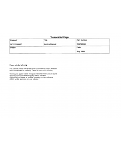 Xerox DocuCentre 332 340ST Parts List and Service Manual