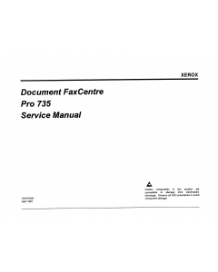 Xerox DocuCentre 735 Pro Parts List and Service Manual