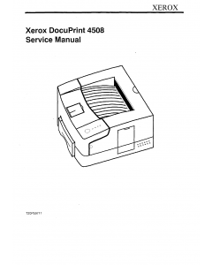 Xerox DocuPrint 4508 Parts List and Service Manual