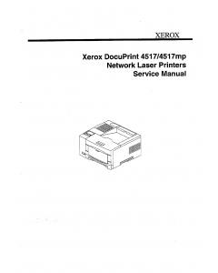 Xerox DocuPrint 4517 4517mp Service Manual