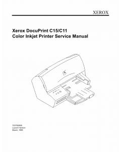 Xerox DocuPrint C11 C15 Parts List and Service Manual