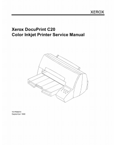 Xerox DocuPrint C20 Parts List and Service Manual