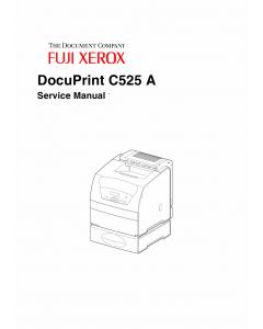 Xerox DocuPrint C525A Fuji Color-Laser-Printer Parts List and Service Manual