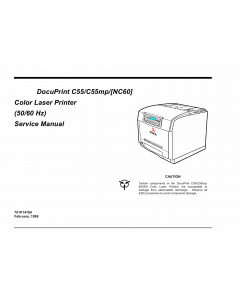 Xerox DocuPrint C55 C44mp NC60 Parts List and Service Manual