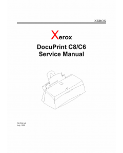Xerox DocuPrint C8 C6 Service Manual
