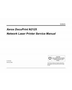 Xerox DocuPrint N2125 Service Manual