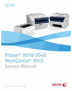 Xerox Phaser 3010 3040 WorkCentre-3045 Parts List and Service Manual