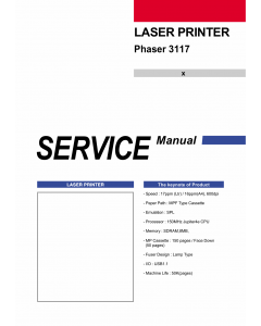 Xerox Phaser 3117 Parts List and Service Manual