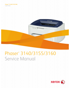 Xerox Phaser 3140 3155 3160 Parts List and Service Manual