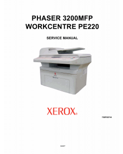 Xerox Phaser 3200-MFP WorkCentre-PE-220 Parts List and Service Manual