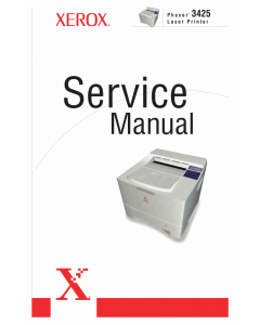 Xerox Phaser 3425 Parts List and Service Manual
