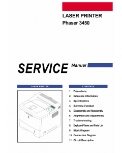 Xerox Phaser 3450 Parts List and Service Manual