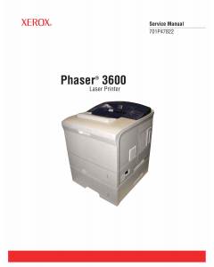 Xerox Phaser 3600 Parts List and Service Manual