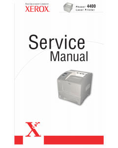 Xerox Phaser 4400 Parts List and Service Manual