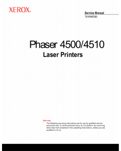 Xerox Phaser 4500 4510 Parts List and Service Manual