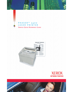 Xerox Phaser 5400 Parts List and Service Manual