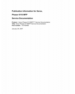 Xerox Phaser 6110-MFP Parts List and Service Manual