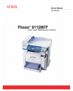 Xerox Phaser 6115-MFP Parts List and Service Manual