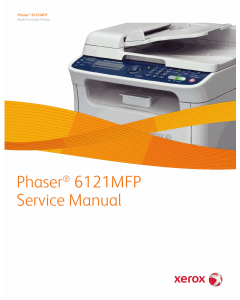 Xerox Phaser 6121-MFP Parts List and Service Manual