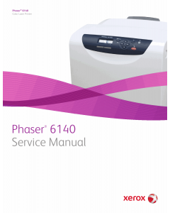 Xerox Phaser 6140 Color-Laser-Printer Parts List and Service Manual