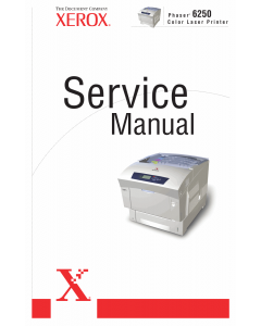 Xerox Phaser 6250 Parts List and Service Manual