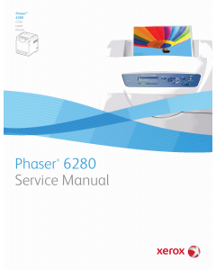 Xerox Phaser 6280 Color-Laser-Printer Parts List and Service Manual
