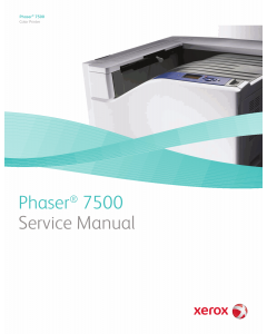 Xerox Phaser 7500 Parts List and Service Manual