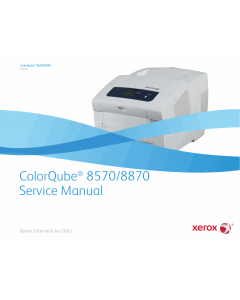 Xerox Printer ColorQube-8570 8870 Parts List and Service Manual