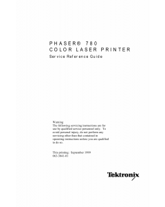 Xerox Tektronix-Phaser-780 Parts List and Service Manual