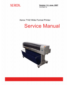 Xerox WideFormat 7142 Parts List and Service Manual