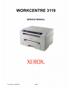 Xerox WorkCentre 3119 Service Manual